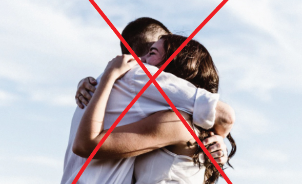 red-crossed picture of people hugging