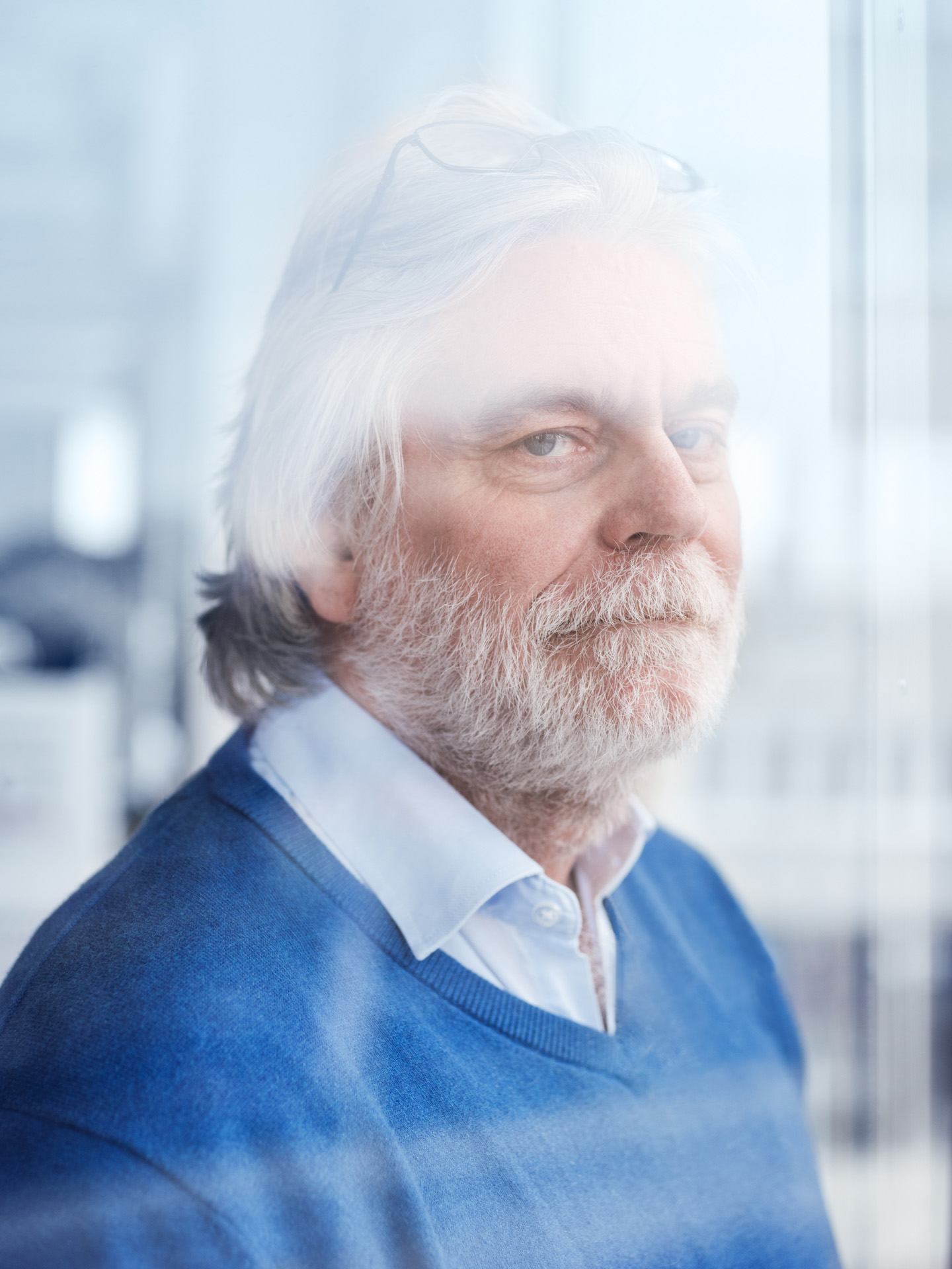 portrait of older man white long hair and white beard by Alexi Hobbs for WSP