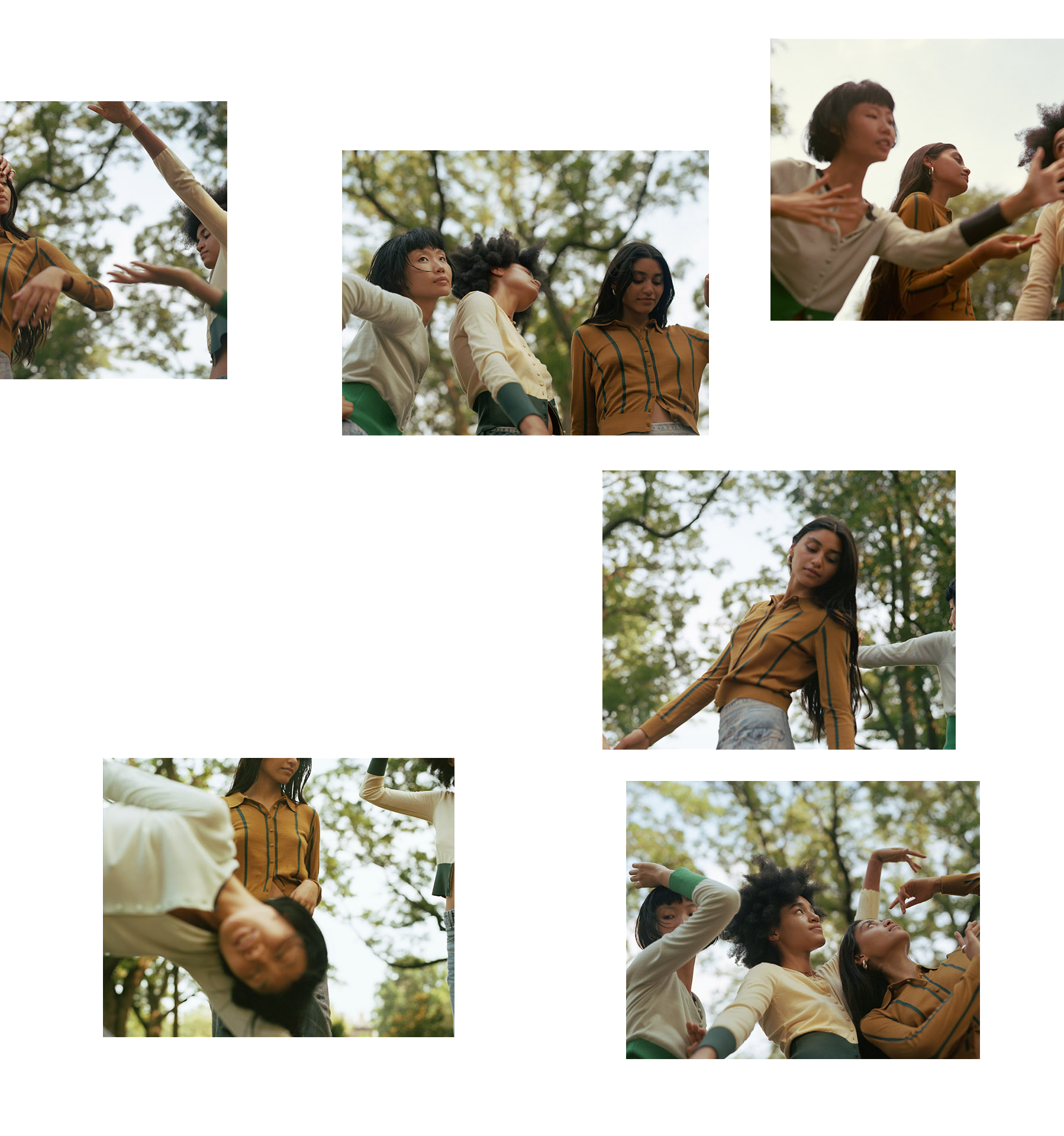 collage of pictures of models in nature by Oumayma B Tanfous for Sustainability Emerging Designers in Flaunt Magazine
