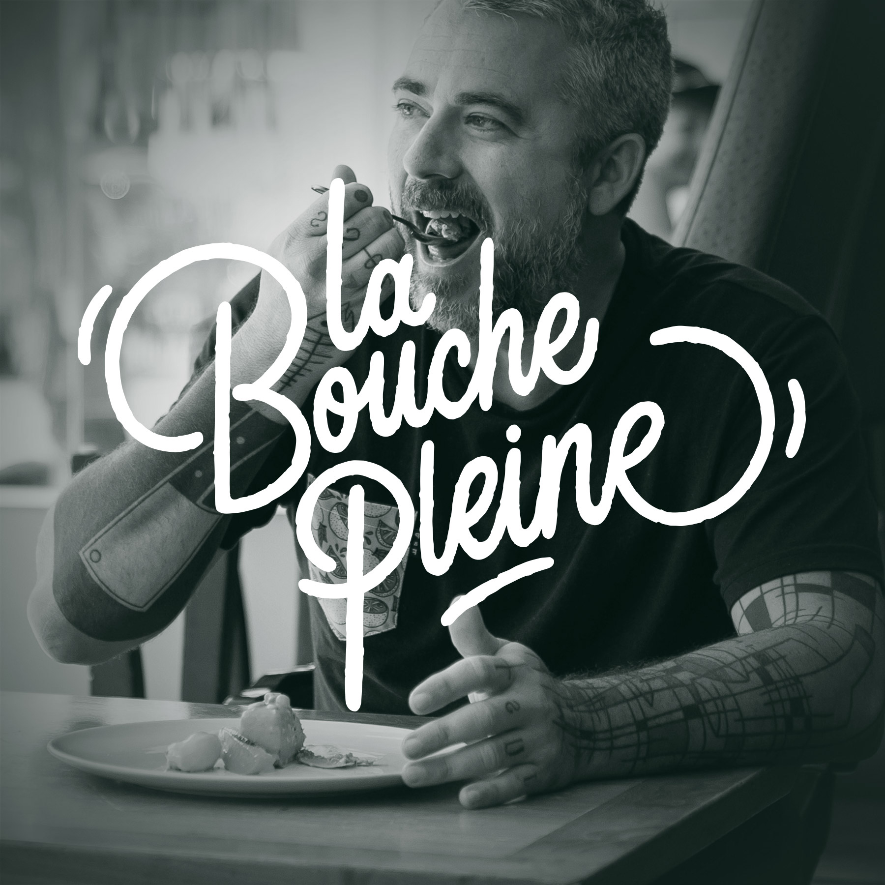 La bouche Pleine podcast logo by Bruno Florin