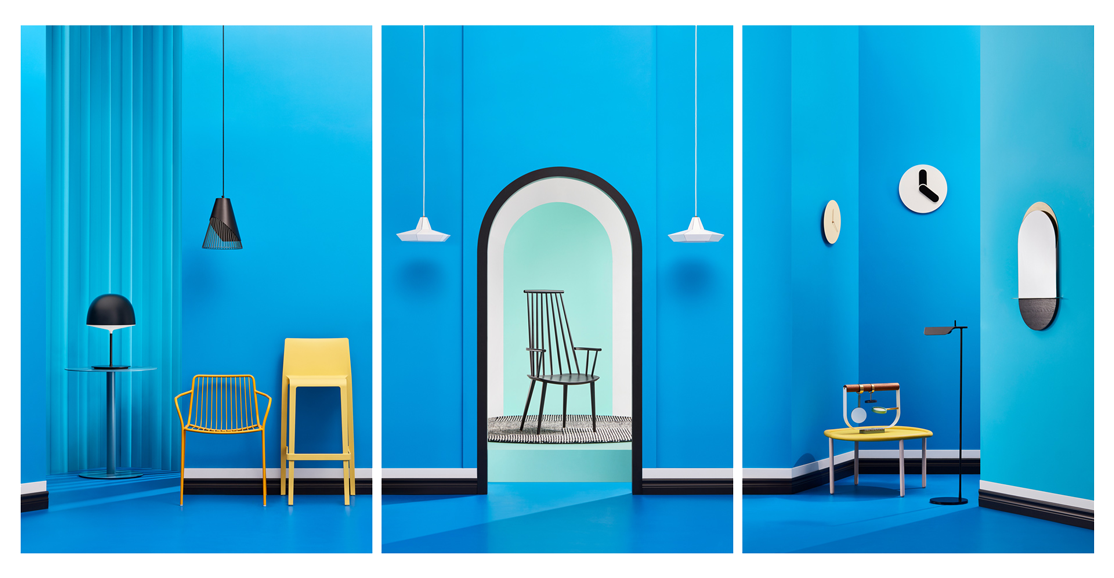 picture of blue themed interior designs by Mathieu Levesque