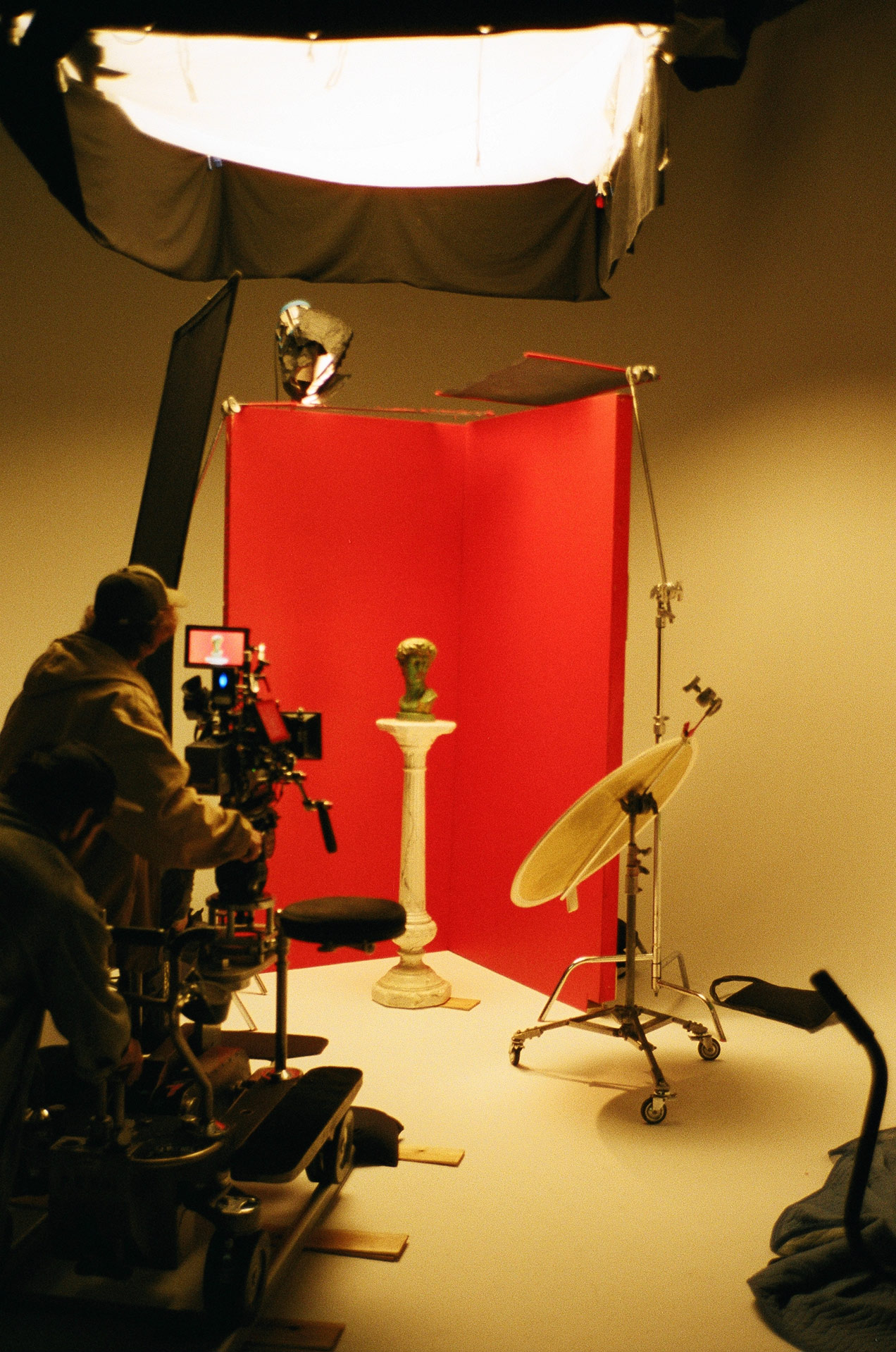 studio set with equipment and cameras for Zach Zoya music video Who Dat filmed by Les Gamins