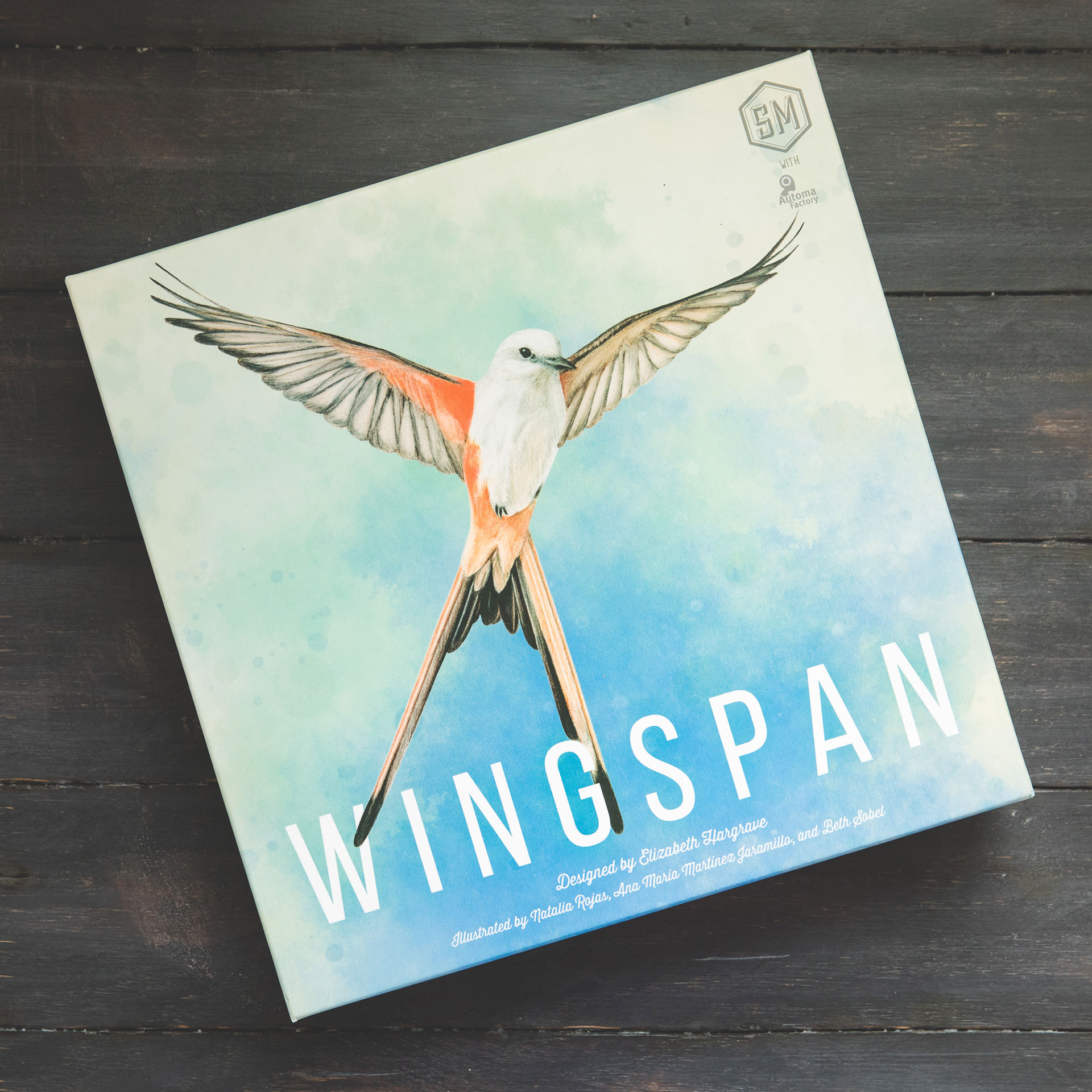 Wingspan board game box inspiration of photographer Alexi Hobbs