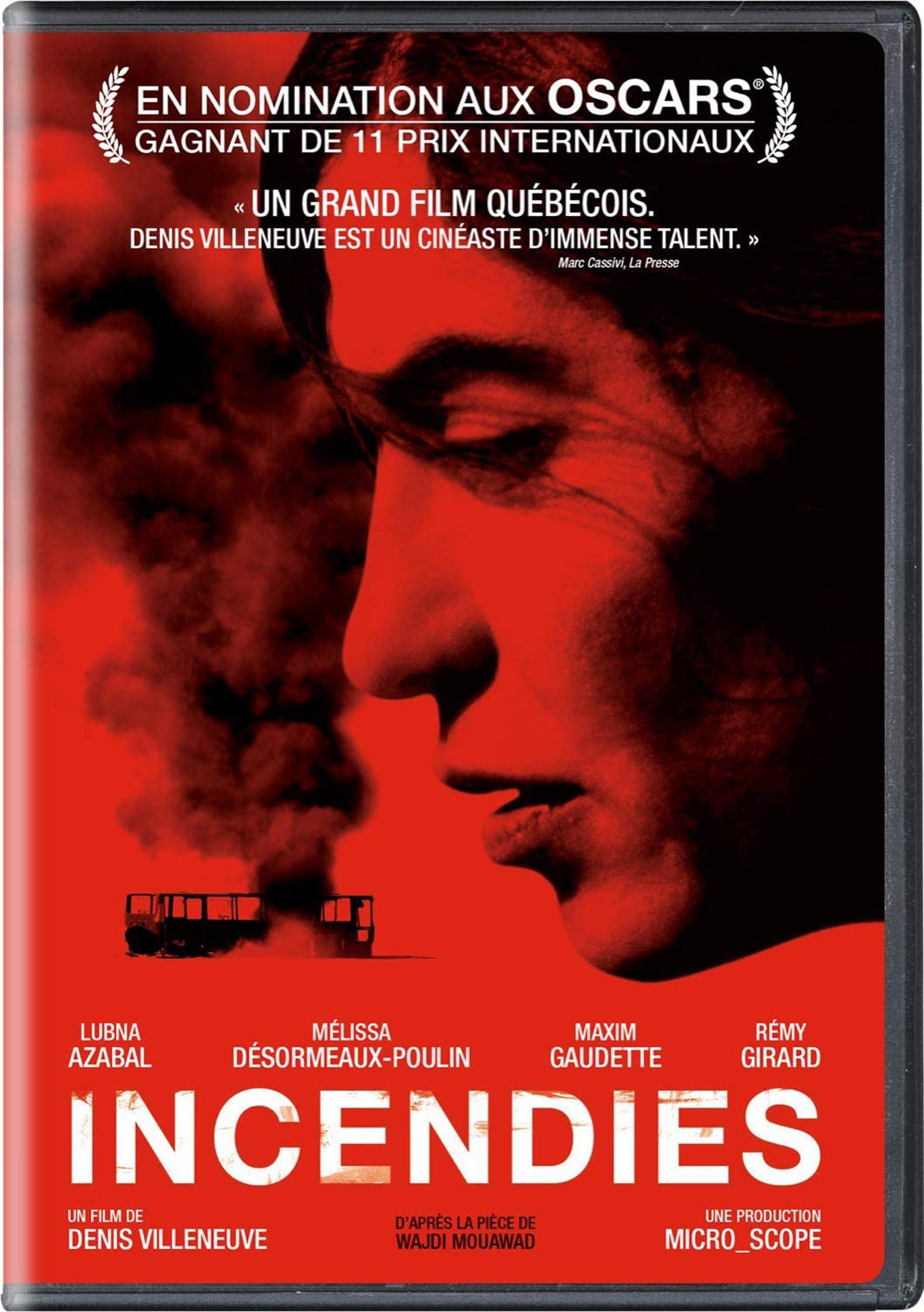 poster of Incendies movie by Denis Villeneuve